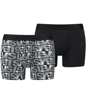 Levis Boxershorts - 2-pak - Sort/Hvid