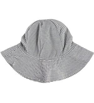 Müsli Sommerhat - Woven Stripe - Hvid/Blåstribet