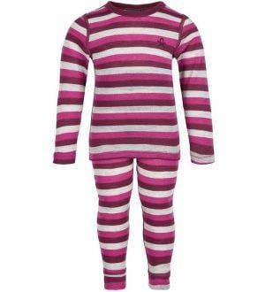 Color Kids Undertøjssæt - Beet Red m. Striber