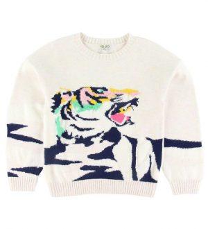 Kenzo Bluse - Strik - Kaelea - Rainbow Beige m. Tiger
