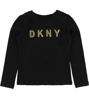DKNY Bluse - Sort m. Guld Logo