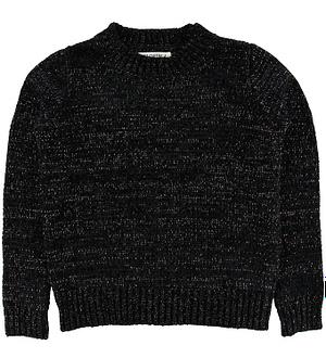 Hound Bluse - Velour-Strik - Black