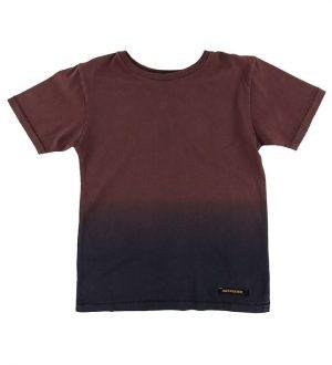 Finger In The Nose T-shirt - Dalton - Burgundy Dip Dye