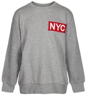 Schnoor Sweatshirt - Mads - Gråmeleret m. NYC