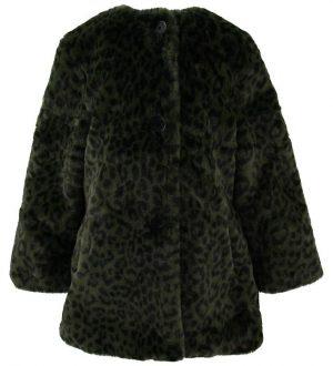 Zadig & Voltaire Frakke - Imiteret Pels - Armygrøn m. Leopard