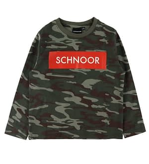 Petit by Sofie Schnoor Bluse - Army Camouflage m. Rød
