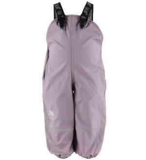 CeLaVi Regnbukser m. Seler/Fleece - PU - Lavendel