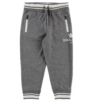 Dolce & Gabbana Sweatpants - Gråmeleret m. Logo