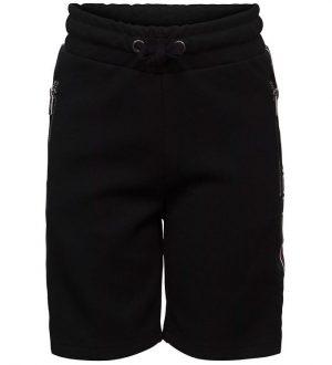 Schnoor Shorts - Sort m. Rød/Hvid