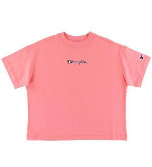 Champion Fashion T-Shirt - Crop - Pink m. Logo