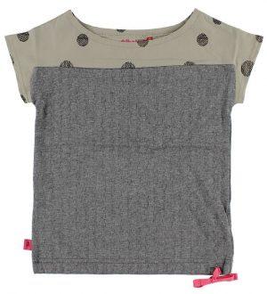 AlbaBaby T-shirt - Gråmeleret/Grå m. Prikker