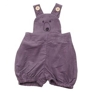 KRUTTER - Bear Shorts Overalls - Grey