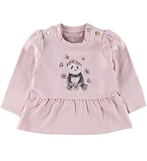 Hust and Claire Bluse - Signi - Bambus - Violet Ice m. Panda