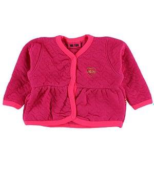 Me Too Quiltet Cardigan - Pink m. Hjerter