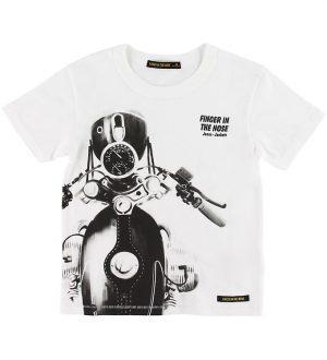 Finger In The Nose T-shirt - Kid - Hvid m. Motorcykel
