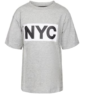Schnoor T-shirt - Asger - Gråmeleret m. NYC
