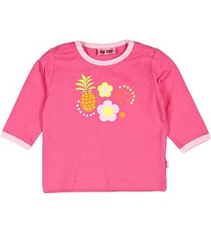 Me Too Bluse - Pink m. Frugt & blomster