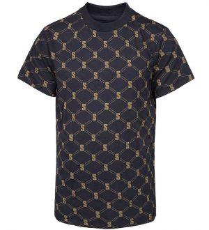 Schnoor T-shirt - Gustav - Navy m. Mønster