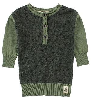 Small Rags Kjole - Strik - Mørkegrøn/Støvet Grøn