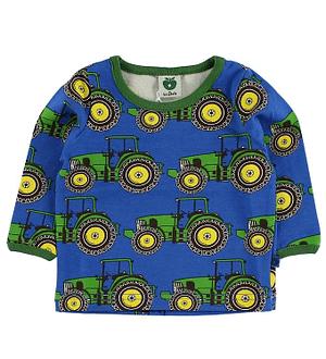 Småfolk Bluse - Blå m. Traktor