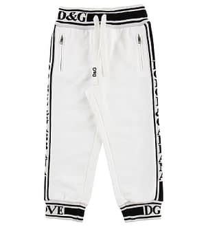 Dolce & Gabbana Sweatpants - Hvid m. Logo Stribe