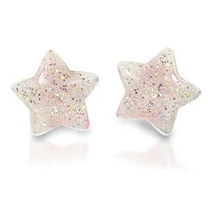 Milk x Soda clips øreringe stjerner - hvid