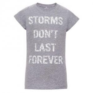 NAME IT T-Shirt Med Tekst Print - Tøjstørrelser: 116