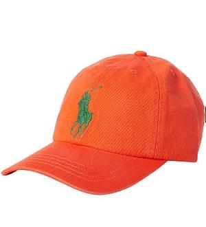 Polo Ralph Lauren Kasket - Orange m. Grøn