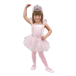 Ballerina kostume, 3-6 år, Melissa & Doug