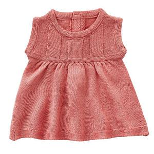 Kjole rosa strik 32-38 cm.