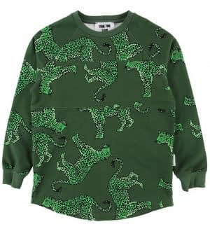 Sometime Soon Sweatshirt - Jodi - Grøn m. Leopard