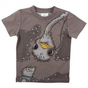 EN FANT T-Shirt Med Struds Tryk - Tøjstørrelser: 104