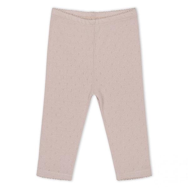 Konges Sløjd bukser m/hulmønster, Minnie - Rose Grey