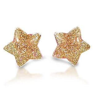Milk x Soda clips øreringe stjerner - guld