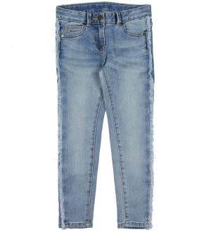 Stella McCartney Kids Jeans - Lyseblå m. Frynser