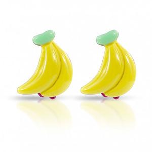 Milk x Soda clips øreringe bananer - gul