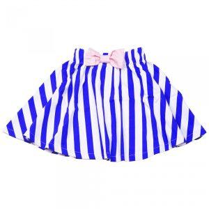 KNAST by KRUTTER - Bow Skirt - Blue/White