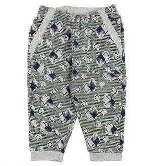 Noa Noa Miniature Sweatpants - Gråmeleret m. Print