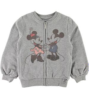 Wheat Disney Cardigan - Mickey & Minnie - Gråmeleret