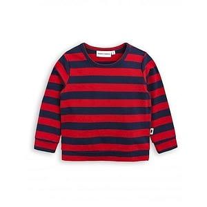 MINI RODINI Stribet Bluse Rød/Navy - Tøjstørrelser: 104