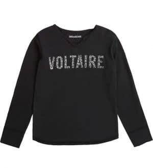 Zadig & Voltaire Bluse - Sort m. Glimmer