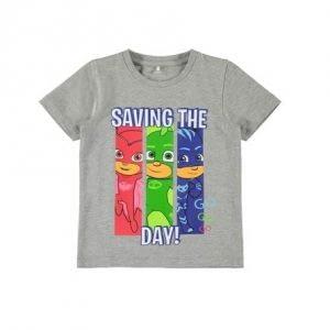 NAME IT Pyjamas Heltene T-shirt Grå - Tøjstørrelser: 104