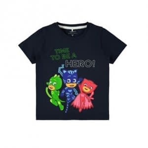 NAME IT Pyjamas Heltene T-shirt Navy - Tøjstørrelser: 104